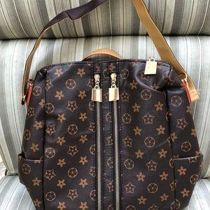 Designer Sling Style Brown Backpack